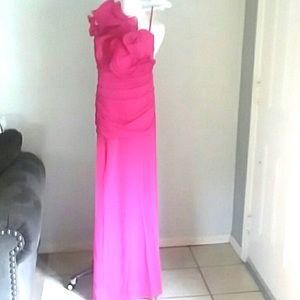 Cinderella Dresses - Cinderella formal hot pink one shoulder dress